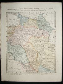 Albania, Armenia, Syria, etc: 1864 Antique Map, Aaron Arrowsmith